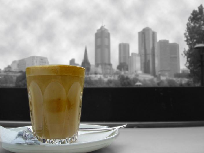 кофе, город